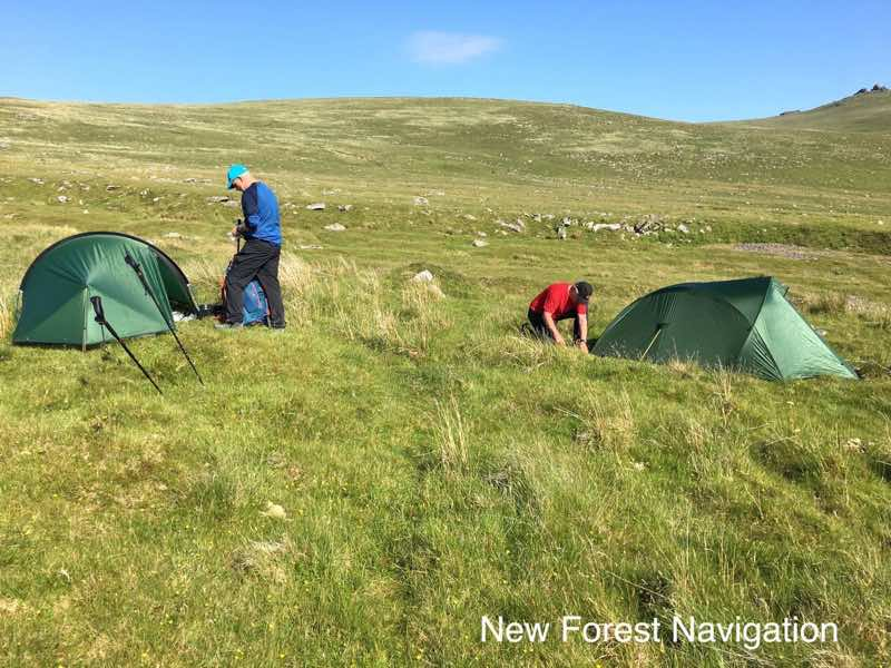 back packing and wild camping course on dartmoor national park