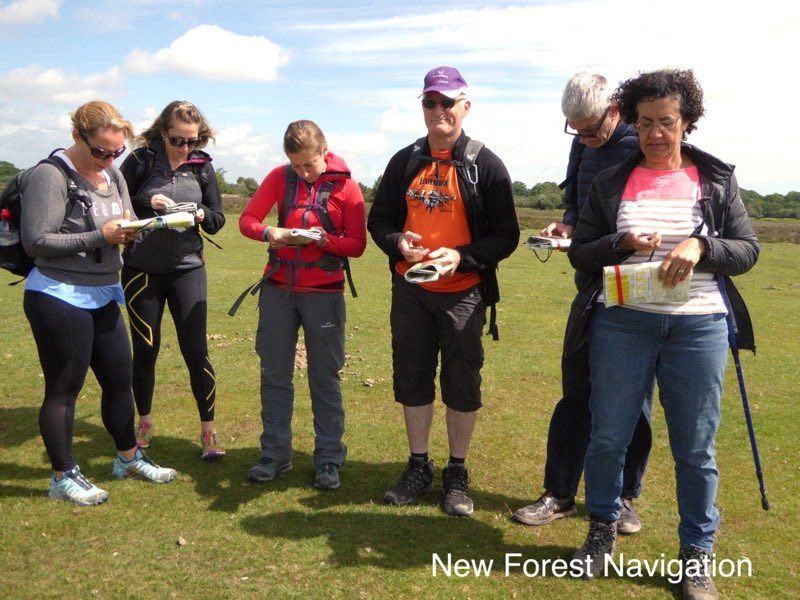 Group enjoying a fun days learning experience in the new forest