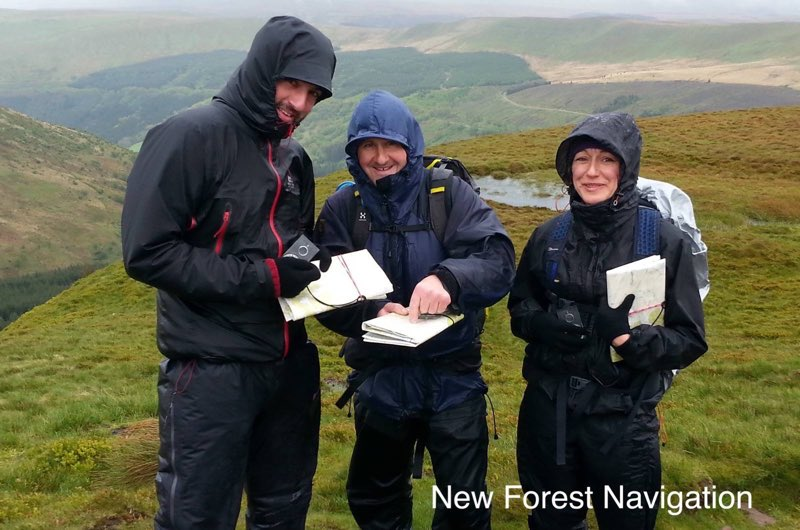 wet and windy weather on mountains but all enjoying it