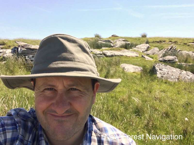 Nigel Parrish ona hot day on dartmoor teaching outdoor skills