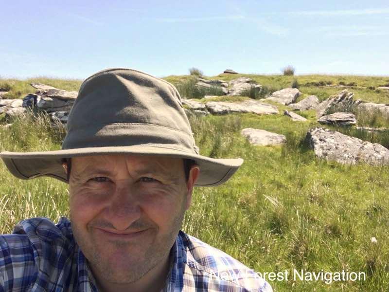 Nigel Parrish ona hot day on dartmoor teaching outdoor skills