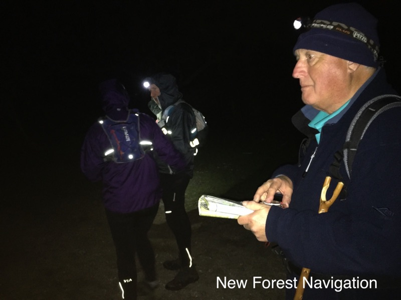 learning low visibility skills on a night navigation course