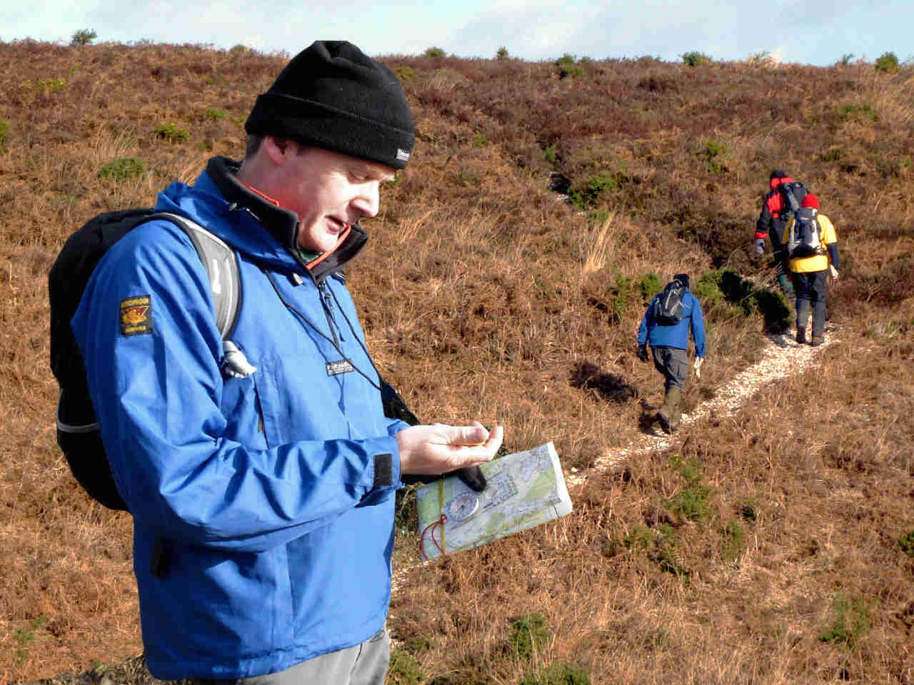 Learning to navigate on more open countryside on a National Navigation Award Scheme bronze silver and gold nnas course