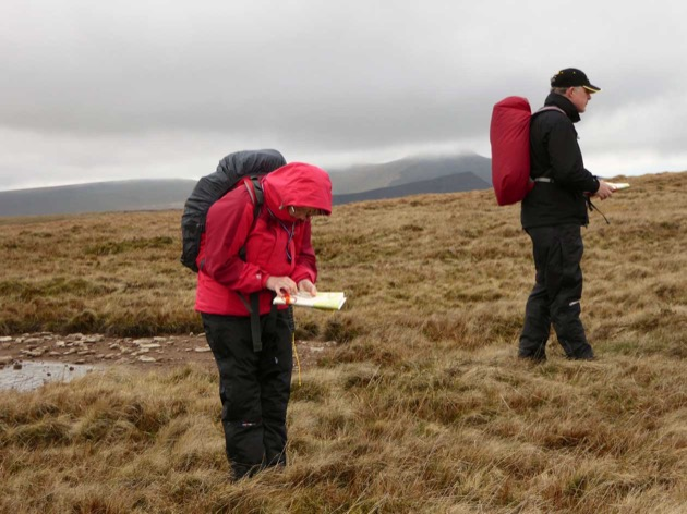 learning low visibility map and compass skills