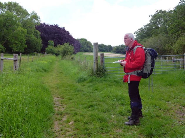 man learning outdoor skills on a one to one course in the south downs