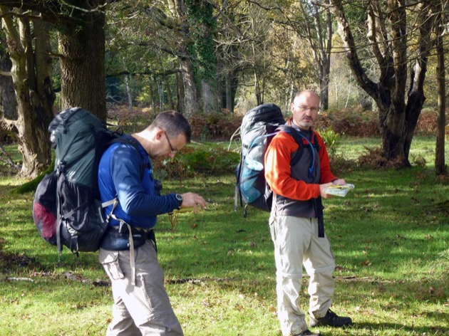 back backers learning map reading and outdoor skills in new forest