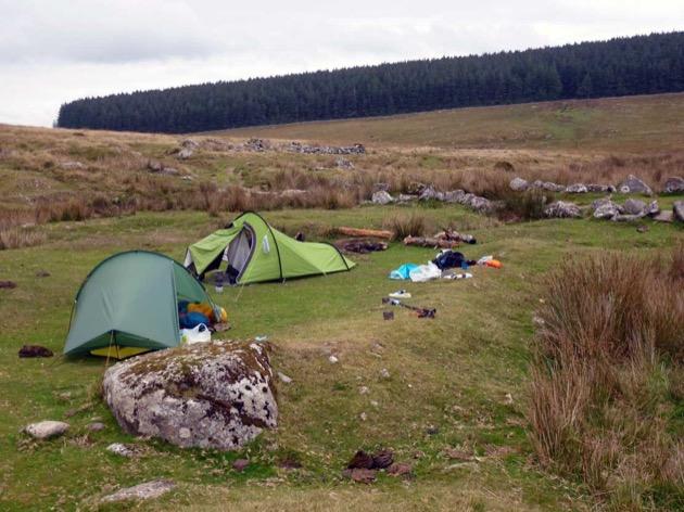 wild camping tents on dartmoor